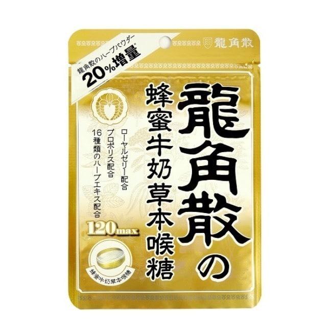 詳細介紹 商品規格 商品簡述 在感到喉嚨乾燥不適、過度使用喉嚨時 品牌 LONGJIAOSAN龍角散 規格 1包 原產地 台灣 深、寬、高 12x17.5x1.5cm 淨重 80 g 保存環境 室溫 是否可門市/超商取貨 Y 商品屬性 內容物名稱 龍角散蜂蜜牛奶草本喉糖80g 食品添加物名稱 著色劑(焦糖色素(普通焦糖)、葉綠素)、人造奶油、脂肪酸蔗糖酯、乳酸 營養成份 每一份量2.7G本包裝含30熱量10.8 大卡脂肪0.1 G碳水化合物2.6G糖1.9G 製造日期 詳見外包裝 有效日期 詳見外包裝 包裝份量 80g 內容量 80g 投保產品責任險 1402第072050245號 注意事項 請置於乾燥陰涼處存放 其他 無 食品業者登錄字號 A-154367790-00000-9