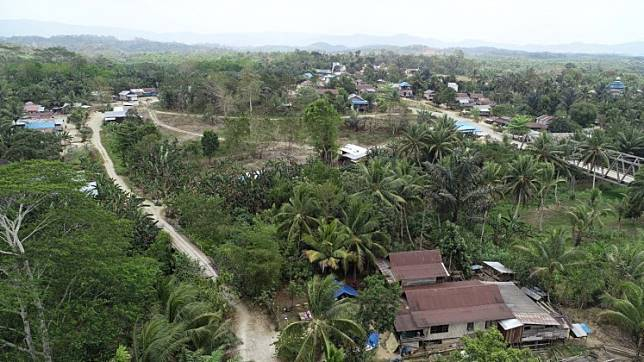 Small settlements dot Penajam District, North Penajam Paser, East Kalimantan, where the new capital will be constructed.