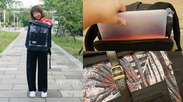 【防撥水後背包】SOLIS 拼接方型後背包 織錦紅│機能應用包│筆電背包 跟著Livia享受人生