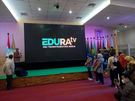 Acara peluncurkan TV Kampus UNJ, Edura TV