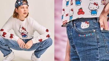 連牛仔褲口袋刺繡都有凱蒂貓!凱蒂貓誕生45週年,推出復古聯名單寧夾克、連帽上衣