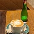 カフェラテ - 実際訪問したユーザーが直接撮影して投稿した新宿カフェSCOPP CAFE(スコップカフェ)の写真のメニュー情報