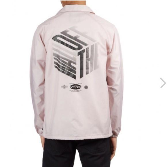 Vans - VN0002MUUOF 美版 Torrey COACH JACKET 教練外套 (粉紅) 化學原宿