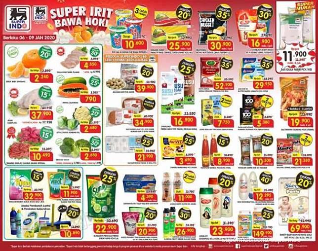 Harga Promo Superindo 6 9 Januari 2020 Diskon Di Hari Kerja Kontan Co Id Line Today