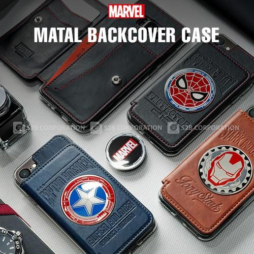 MARVEL 卡夾口袋 插卡軟殼 手機殼│iPhone 6 6S 7 8 Plus X XS MAX XR│z8875