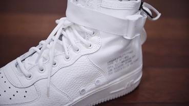 純白 Nike SF-AF1 Mid 細節圖片釋出