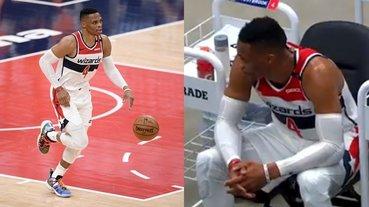 NBA/一勝難求!威少再砍大三元巫師還是輸球,賽後失落坐在板凳痛苦自責⋯
