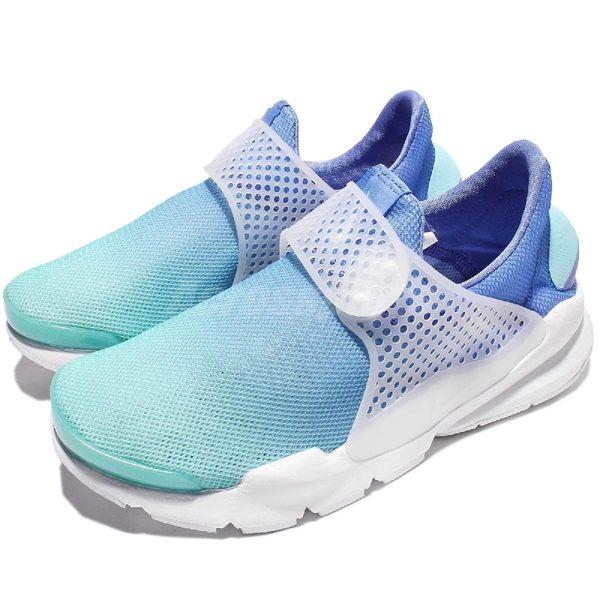 【五折特賣】Nike Wmns Sock Dart BR Breeze 水藍 白 漸層 襪套球鞋 襪子 女鞋 休閒鞋 【PUMP306】 896446-400