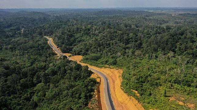 Foto udara kawasan Bukit Nyuling, Tumbang Talaken Manuhing, Gunung Mas, Kalimantan Tengah, Kamis, 25 Juli 2019. Bukit Nyuling itu merupakan salah satu daerah yang menjadi calon ibu kota baru menggantikan Jakarta. ANTARA/Hafidz Mubarak A