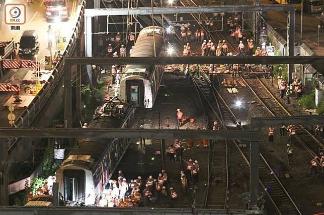 東鐵線發生載客列車出軌事故,港鐵會循三個方向調查。