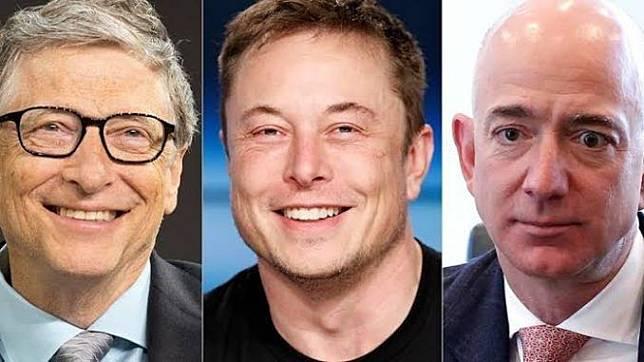 Bill Gates, Elon Musk dan Jeff Bezos