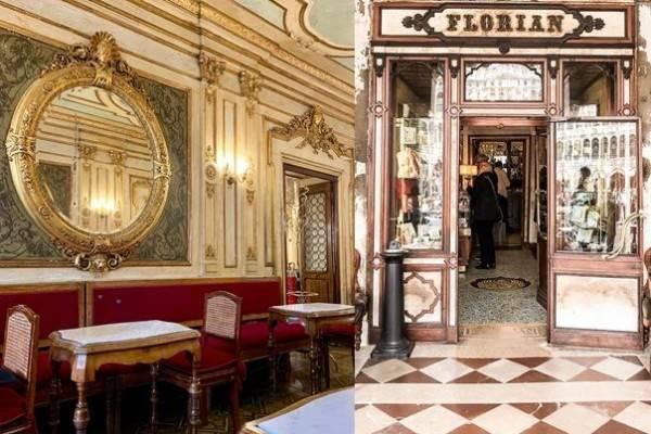 10 Potret MemukauCaffè Florian Venice, Cafe Mewah Tertua di Dunia