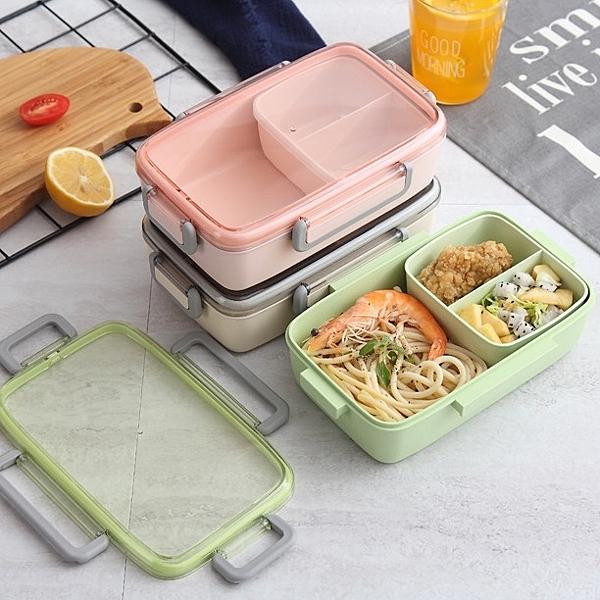小麥分隔便當盒 可微波 耐熱玻璃便當盒 密封 微波便當盒 便當盒 餐盒保鮮盒