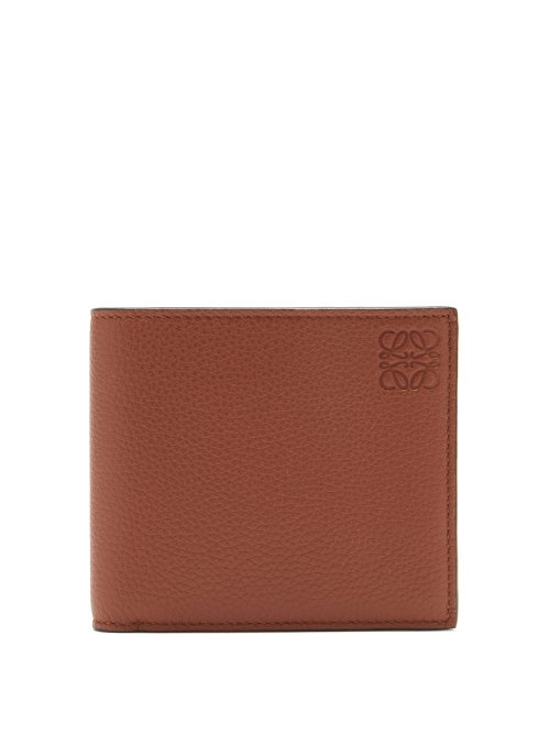 Loewe - Loewe's tan-brown bifold wallet is embossed with the Spanish house's anagram logo, which is