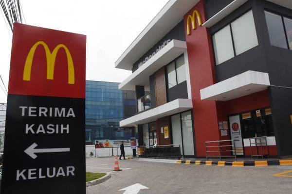 Salah satu gerai McD di Jakarta yang ditutup sementara akibat timbulkan kerumunan