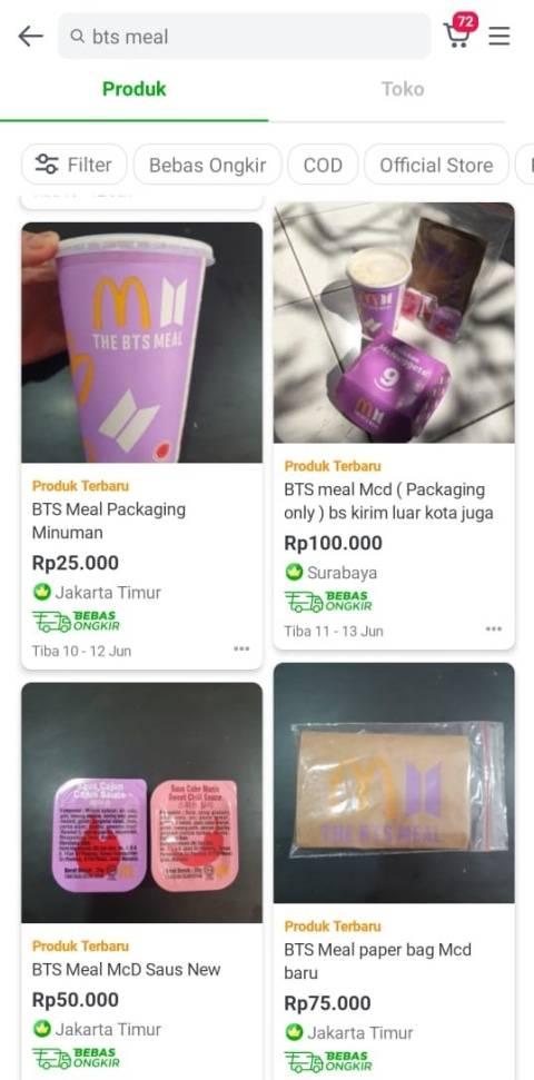 Viral! Bungkus The BTS Meal Dijual sampai Rp 500 Ribu di E-Commerce (1)
