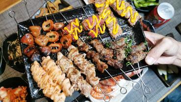 (西門捷運站)西門町聚餐地點推薦-西門串燒殿吃到飽只要499元/699元,串燒,炸物,熱炒吃到飽,西門町吃到飽餐廳