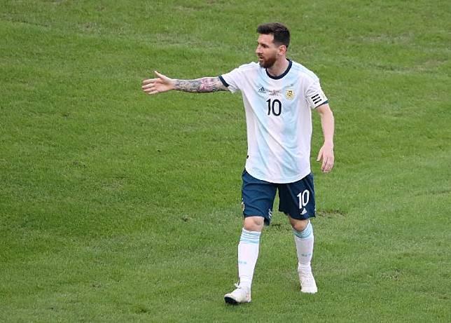 Pemain Argentina, Lionel Messi. REUTERS/Sergio Moraes