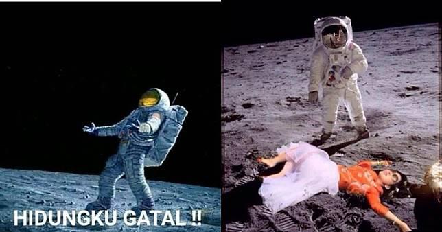 10 Meme lucu 'astronot di bulan' ini bikin ngakak sampai melayang