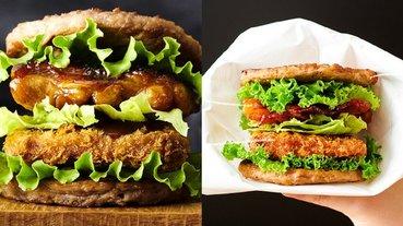 太奢侈!日本摩斯推出「肉夾肉夾肉」限定豪華漢堡,一口咬下就能吃到牛肉、豬肉和雞肉!