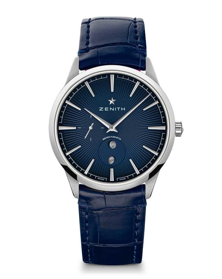 ZENITH「ELITE系列」月相腕錶,「ROMEO羅密歐」款,精鋼錶殼,錶徑40.5mm╱253,900元。(圖╱ZENITH提供)