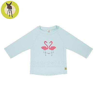 德國Lassig-嬰幼兒抗UV長袖泳裝上衣-火紅鶴