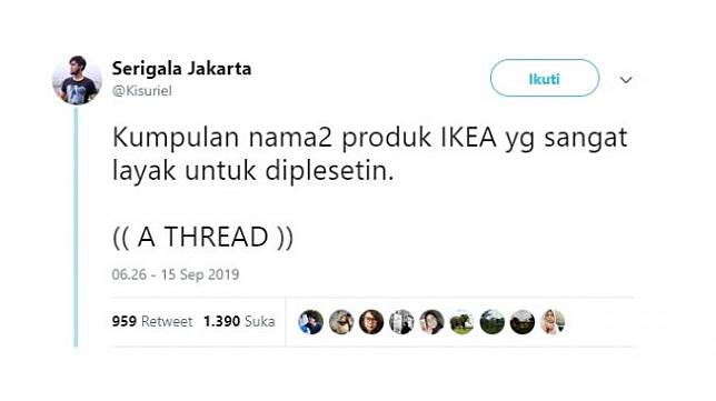 Plesetan produk IKEA. [Twitter]