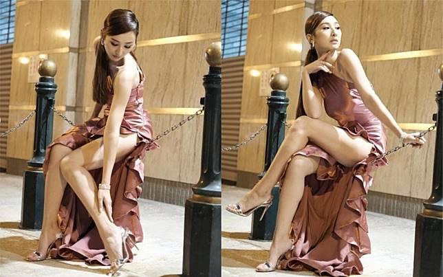 ▲港星高海寧外型甜美,擁有34D的傲人上圍及逆天長腿。(圖/翻攝IG)