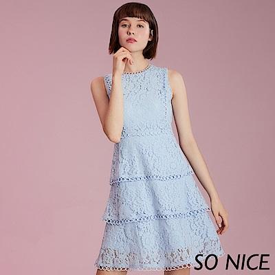 夏日新品上市精緻鏤空花邊,描繪妳的時尚輪廓中高腰線剪裁,完美拉長腿部曲線浪漫蛋糕造型裙襬,增添甜美氣息車骨蕾絲面料,輕柔質感內裡