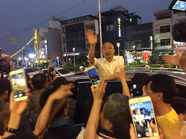 韓國瑜出席屏東藍軍大團結勝利餐會 他呼籲大家要展現對國家的愛