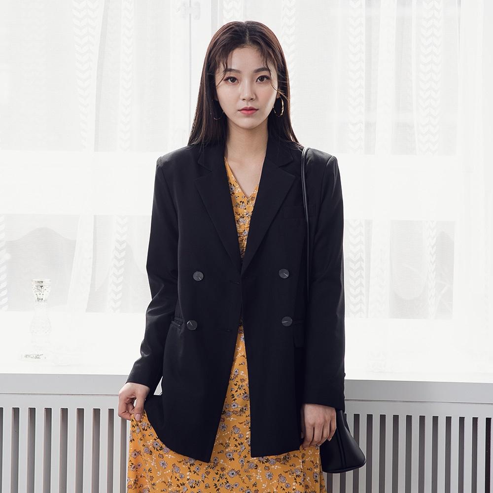 [ROCOSIX官方旗艦店]袖面排釦簡約基本西裝外套