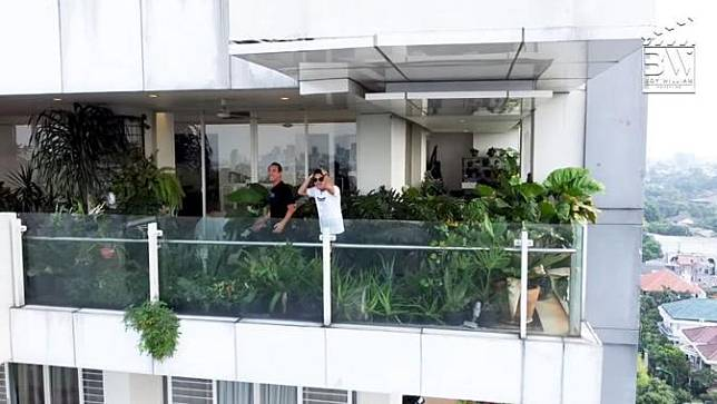 Kebun di apartemen Daniel Mananta. (YouTube/Boy William)