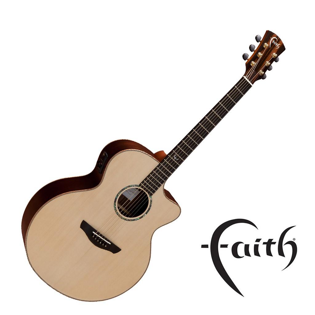 Faith FJCEHG民謠吉他 雲杉木面板 玫瑰木背側 全單 - 【黃石樂器】