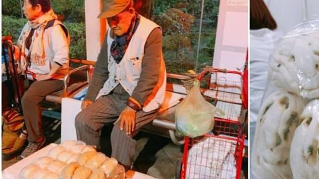 Kakek usia 105 tahun masih berjualan roti