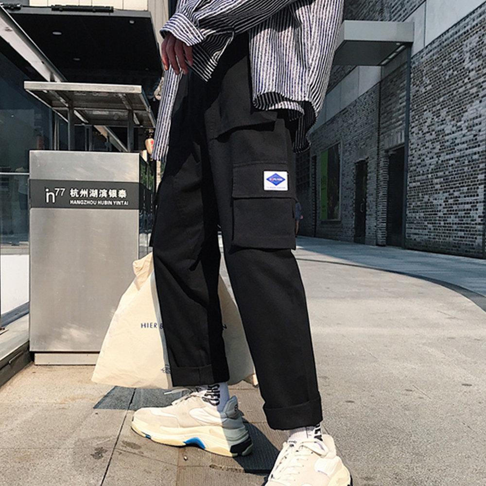BuyGlasses 日系百搭寬鬆口袋長褲 DLYBA69