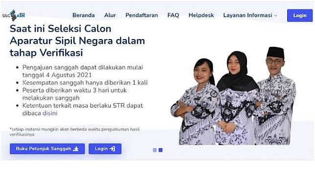 Login Sscasn Bkn Go Id Untuk Cek Hasil Seleksi Administrasi Cpns Pppk 2021 Ini Cara Mengeceknya Tribunnews Com Line Today