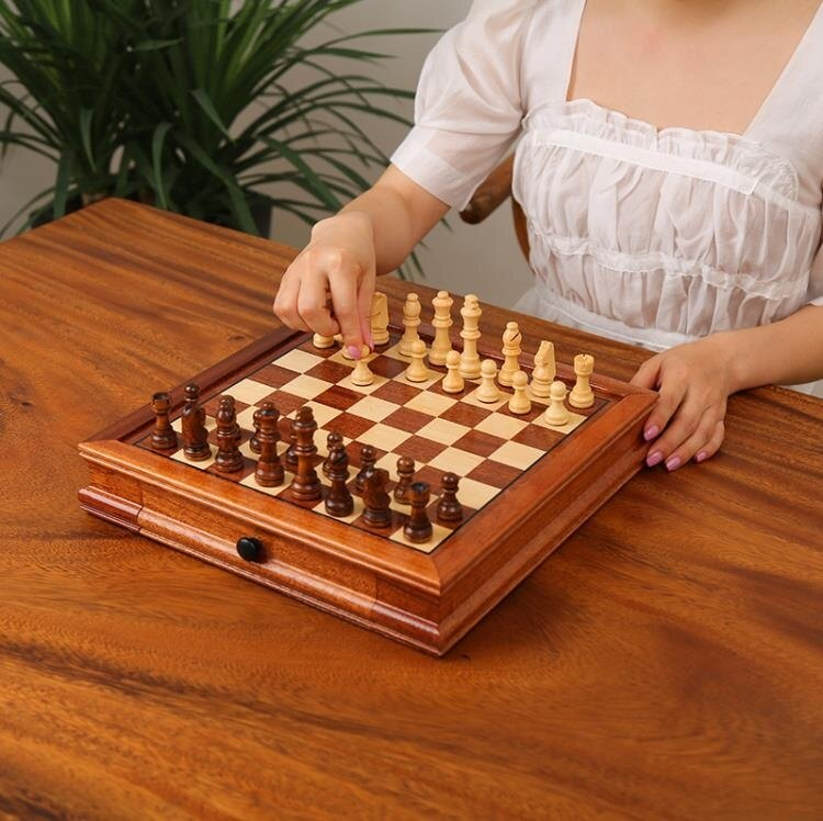 象棋 國際象棋實木磁性高檔西洋棋成人比賽專用擺件裝飾送禮