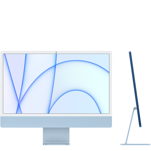 24 吋藍色 iMac 配備 4.5K Retina 顯示器 -