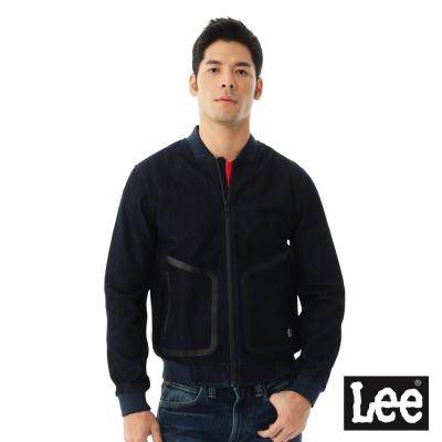 Lee 防風牛仔外套/UR-男款-深藍色