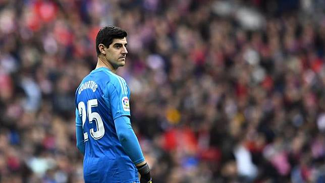 Courtois Dilempari Tikus di Atletico Madrid vs Real Madrid