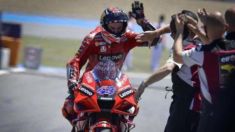 Jack Miller menang MotoGP Spanyol 2021. (Dorna Sports)