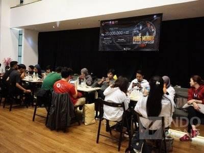 FOTO: Serunya Turnamen PUBG Mobile untuk Para Jurnalis