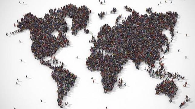 Ilustrasi peta daratan di Bumi. Jumlah penduduk Bumi diperkirakan capai 9,7 miliar jiwa pada 2050. [Shutterstock]