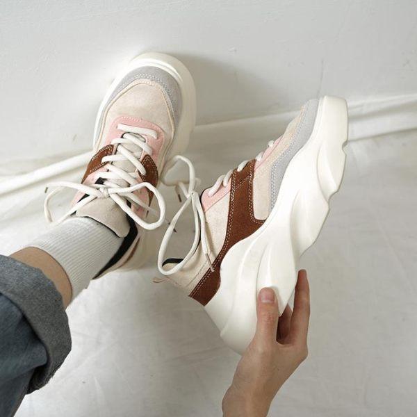 老爹鞋女厚底內增高2019夏季新款潮ins學生運動鞋超火網紅智熏鞋