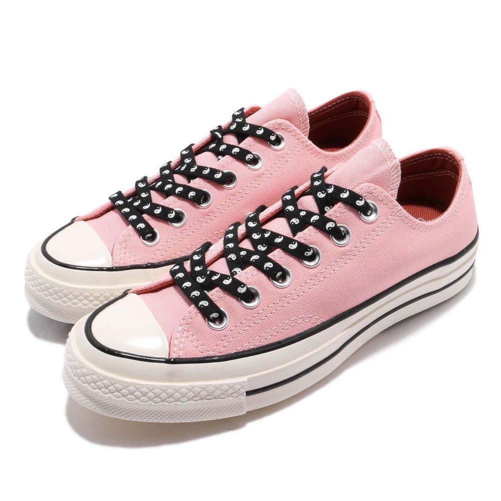 CONVERSE 休閒鞋 All Star 低筒 穿搭 女鞋 經典款 三星 黑標 帆布 簡約 球鞋 粉 黑 [164212C]