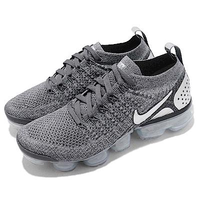型號: 942843-013品名: Wmns Nike Air Vapormax Flyknit 2配色: 灰色 銀色特點: 氣墊 避震 輕量 透氣 舒適 運動 灰 銀