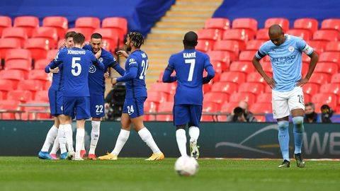 Man City dikalahkan Chelsea di semifinal Piala FA pada pertemuan terakhir. (Pool via REUTERS/BEN STANSALL)