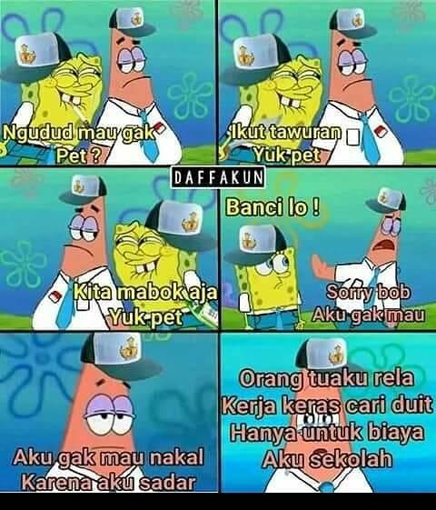 Gambar Kata Kata Lucu Spongebob Bahasa Sunda Kumpulan