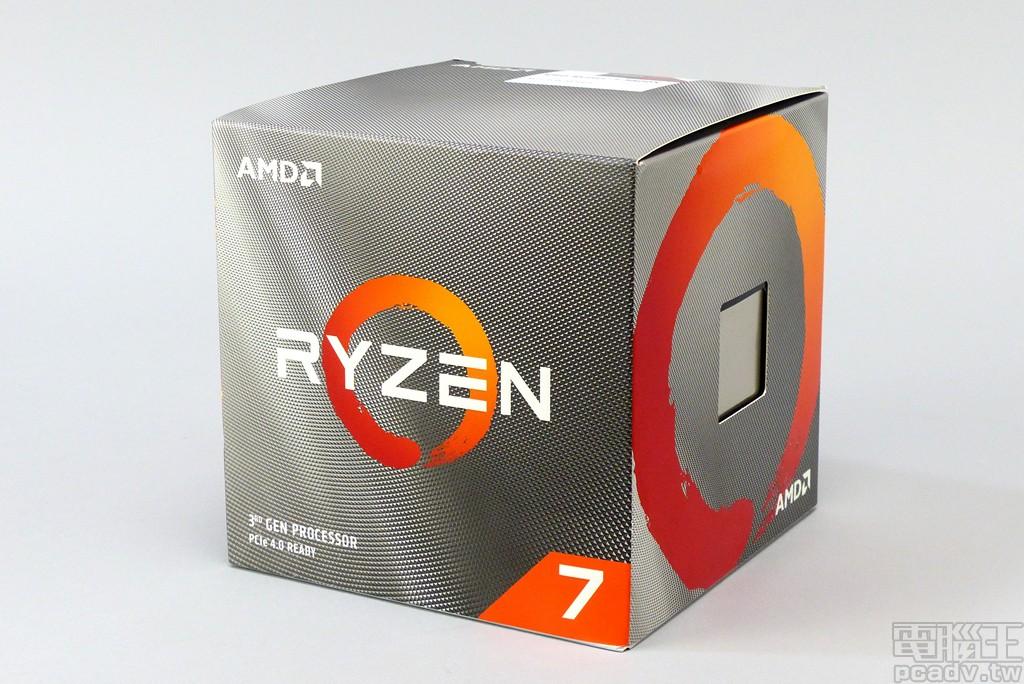 ▲ Ryzen 7 3800X 市售盒裝與第三代 Ryzen 桌上型處理器系列採用相同的設計語彙,灰色部分採用深淺不同的菱格紋作出 3D 視覺。