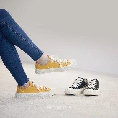 Excelsior Bolt 法國品牌 韓產硫化情侶款 復古小眾低幫帆布鞋 焦糖餅乾休閒運動板鞋 黃色
